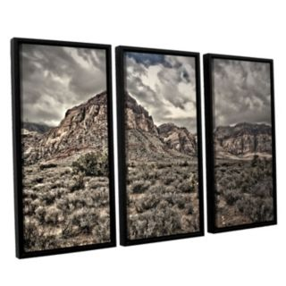 ArtWall ''No Distractions'' Vertical Framed Wall Art 3-piece Set