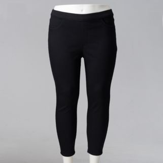 Plus Size Simply Vera Vera Skinny Capri Jeggings