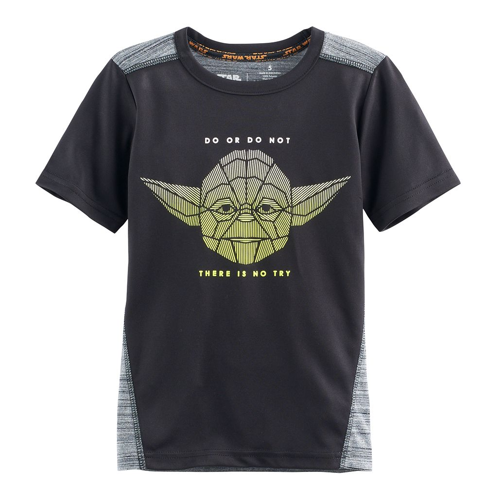 Black t shirts kohls - Boys 4 7x Star Wars A Collection For Kohl S Yoda Do Or Do Not There Is No Try Graphic Tee