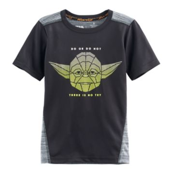 """Boys 4-7x Star Wars a Collection for Kohl's Yoda """"Do Or Do Not There Is No Try"""" Graphic Tee"""