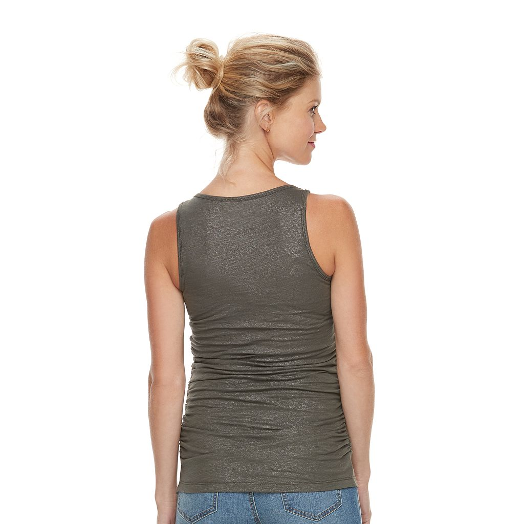 Maternity a:glow Ruched Scoopneck Tank