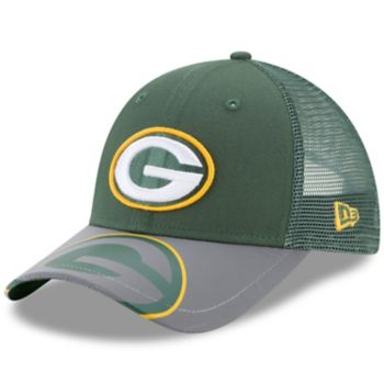 Youth New Era Green Bay Packers 9FORTY Mega Flect Snapback Cap