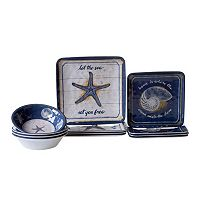 Certified International Calm Seas 12 pc Dinnerware Set