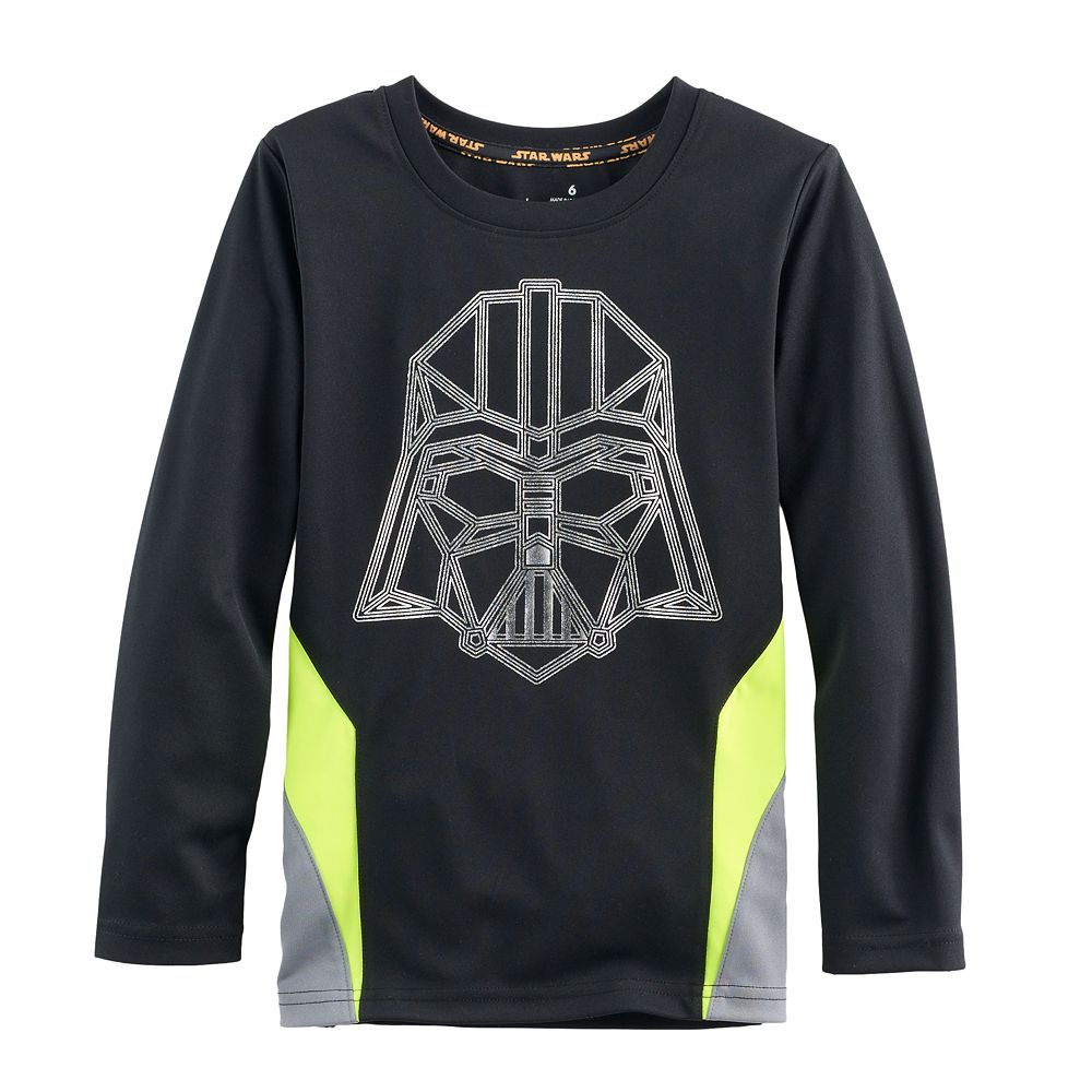 Black t shirts kohls - Boys 4 7x Star Wars A Collection For Kohl S Darth Vader Metallic Graphic Tee