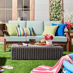 HomeVance Glen View Blue Patio Sofa