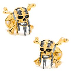 Disney Pirates of the Caribbean Skull and Crossbones Cuff Links