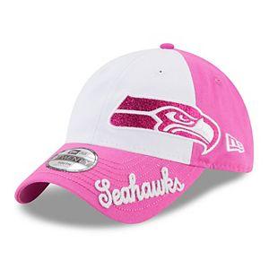 Youth New Era Seattle Seahawks 9TWENTY Glitter Sweep Adjustable Cap