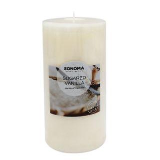 "SONOMA Goods for Life™ Sugared Vanilla 6"" x 3"" Pillar Candle"
