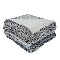 London Fog Reversible Sherpa Throw
