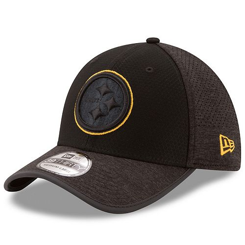 Adult New Era Pittsburgh Steelers 39THIRTY Tech Flex-Fit Cap