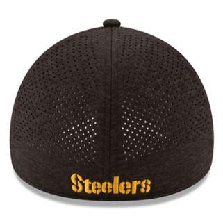 Adult New Era Pittsburgh Steelers 39THIRTY Tech Flex-Fit Cap