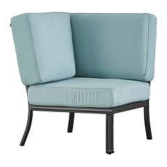 HomeVance Borego Blue Corner Patio Chair