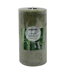 SONOMA Goods for Life™ Fresh Bamboo 6' x 3' Pillar Candle