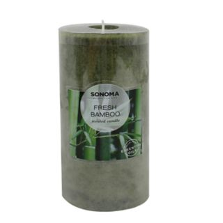 "SONOMA Goods for Life? Fresh Bamboo 6"" x 3"" Pillar Candle"