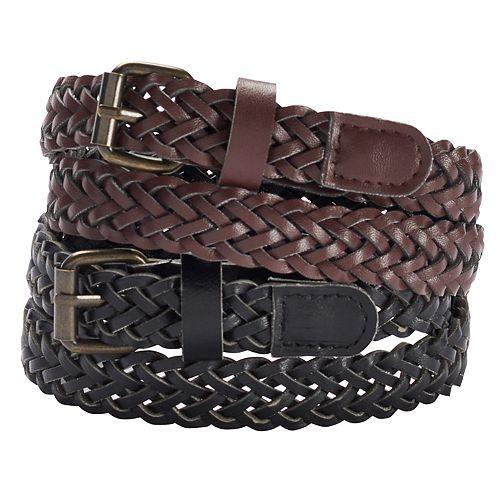 Girls 4-16 2-pk. Braided Belts