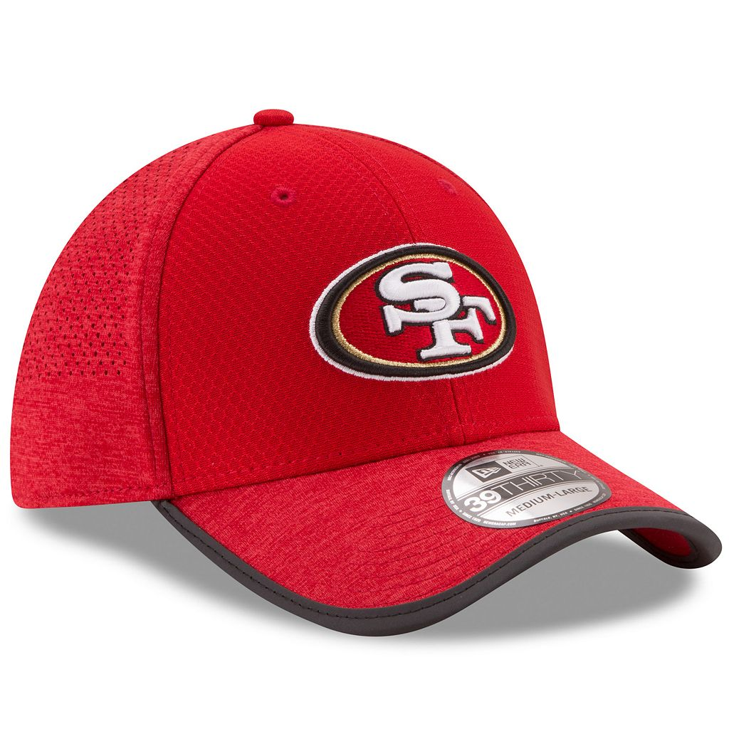 Adult New Era San Francisco 49ers 39THIRTY Training Flex-Fit Cap