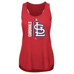 Women's Majestic St. Louis Cardinals AC Team Icon Tank Top
