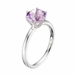 LC Lauren Conrad 10k White Gold Amethyst Ring