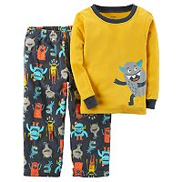 Baby Boy Carter's Monster Graphic Top & Microfleece Bottoms Pajama Set