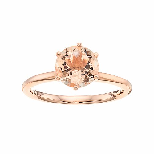 LC Lauren Conrad 10k Rose Gold Morganite Ring