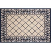 Nourison Aloha Sweet Vacation Framed Lattice Indoor Outdoor Rug