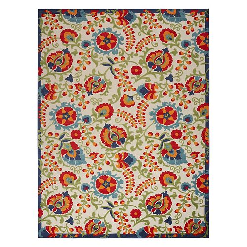 Nourison Aloha Floral Frenzy Indoor Outdoor Rug
