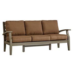HomeVance Glen View Gray Finish Patio Sofa