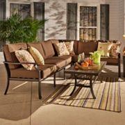 HomeVance Borego Sectional Patio Sofa 6 pc Set