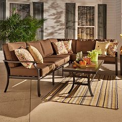 HomeVance Borego Sectional Patio Sofa 6-piece Set
