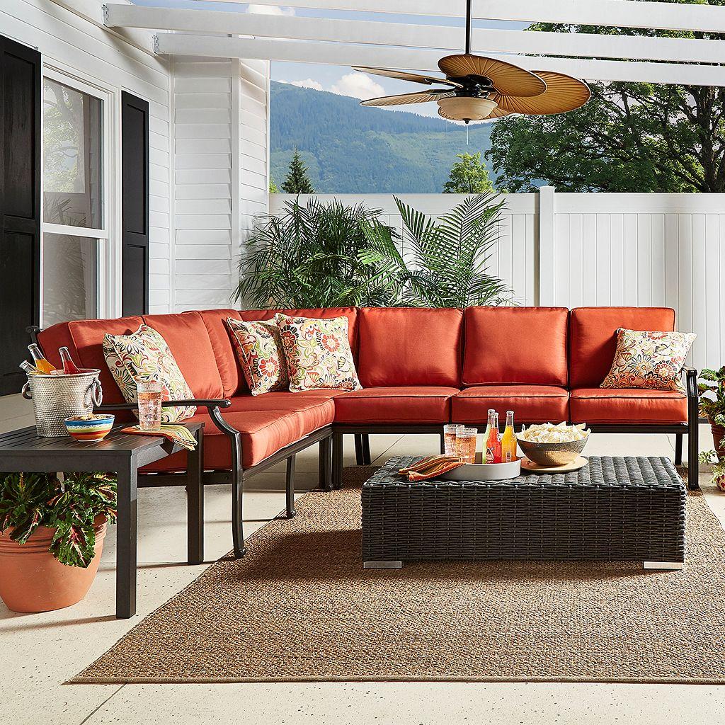 HomeVance Borego Sectional Patio Sofa 6-piece Set