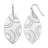 Textured Marquise Nickel Free Drop Earrings