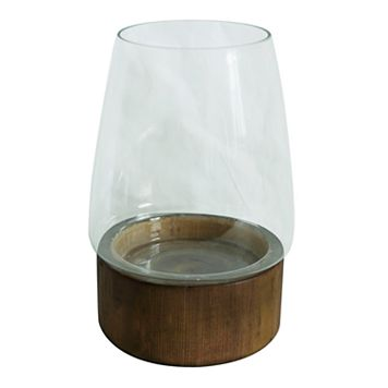 SONOMA Goods for Life™ Wood & Glass Hurricane Candle Holder
