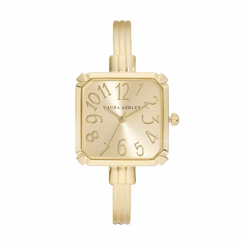 Laura Ashley Women's Square Cuff Watch