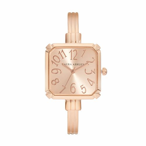 Laura Ashley Lifestyles Women's Square Cuff Watch