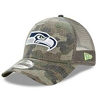 Adult New Era Seattle Seahawks 9FORTY Camo Snapback Cap