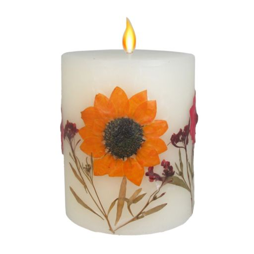 """SONOMA Goods for Life™ Falling Leaves 3.25"""" x 4"""" Pillar Candle"""