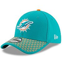 Adult New Era Miami Dolphins 39THIRTY Sideline Fitted Cap