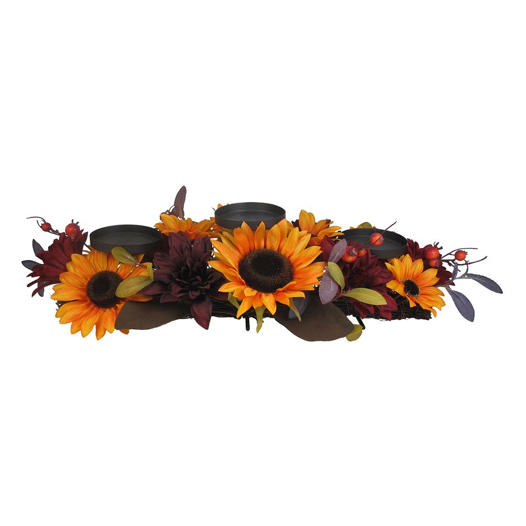 SONOMA Goods for Life™ Artificial Sunflower 3-Tier Pillar Candle Holder