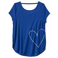 Girls 7-16 & Plus Size SO® Short Sleeve Bar Back Tee