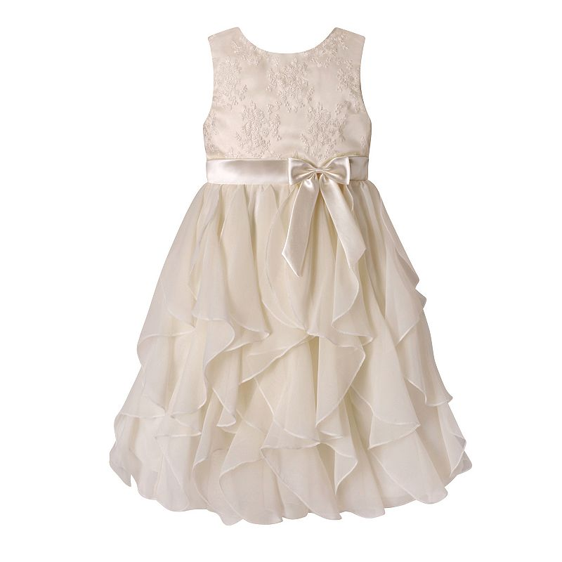 Girls 7-12 American Princess Embroidered Bodice Corkscrew Dress, Girl's, Size: 10, White Oth