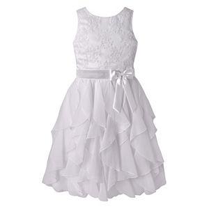 Girls 7-12 American Princess Embroidered Bodice Corkscrew Dress