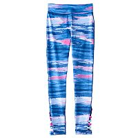 Girls 7-16 & Plus Size SO® Strappy Side Leg Paint Stroke Pattern Leggings