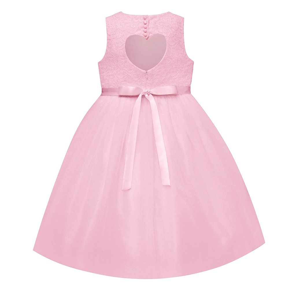 Girls 7-12 American Princess Lace Bodice & Tulle Skirt Dress