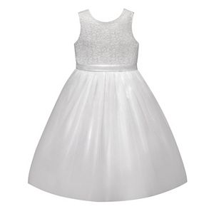 Girls 7-12 American Princess Lace Bodice & Tulle Skirt Dress