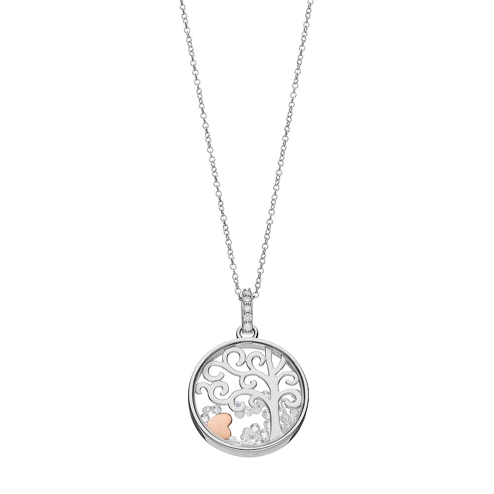 Hallmark sterling silver cubic zirconia tree floating charm pendant aloadofball Image collections