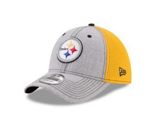 Adult New Era Pittsburgh Steelers 39THIRTY Heather Neo Fitted Cap