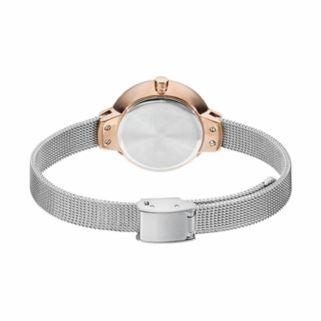 Armitron Women's Crystal Two Tone Stainless Steel Mesh Watch - 75/5476SVTR