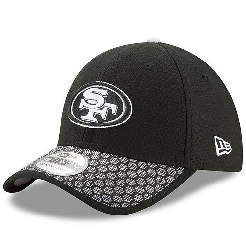 79e61673 Adult New Era San Francisco 49ers 39THIRTY Sideline Flex-Fit Cap