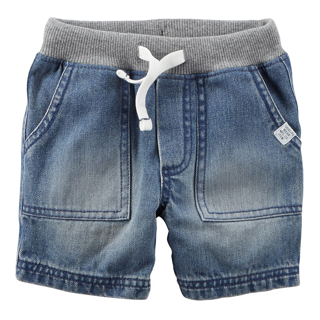 Toddler Boy Carter's Drawstring Denim Shorts