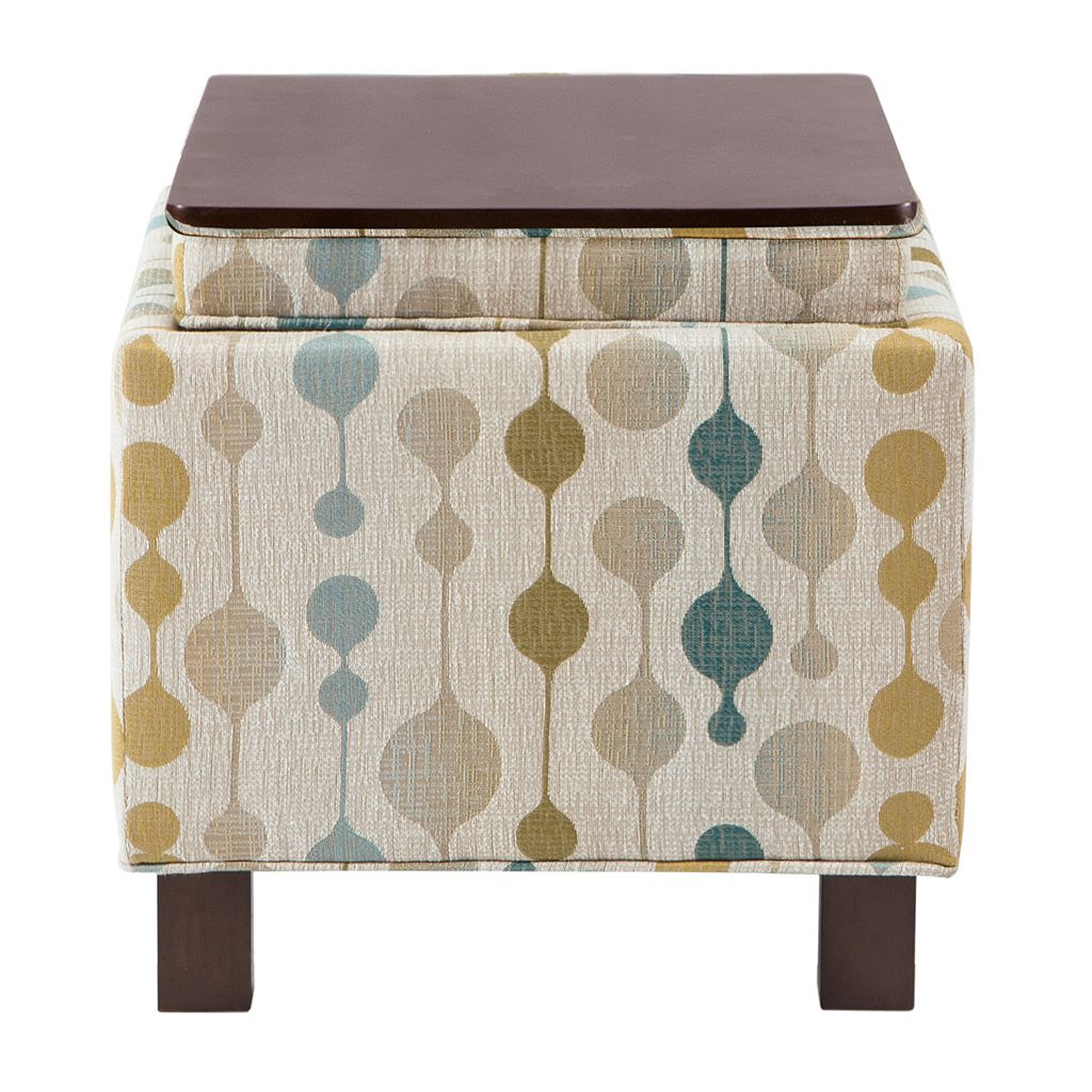 Madison Park Shelley Square Storage Ottoman & Throw Pillow 3-piece Set